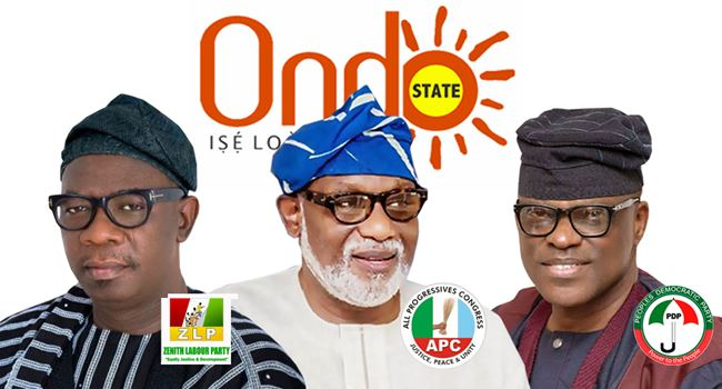 ONDO 2020: Akeredolu, Ajayi, Jegede, others to sign peace accord Tuesday ― INEC Chairman