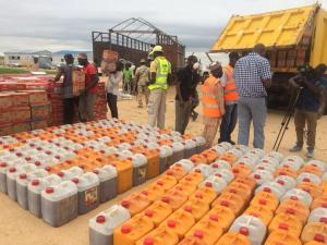 NEMA flag-off monthly distribution of food items to IDPs Borno