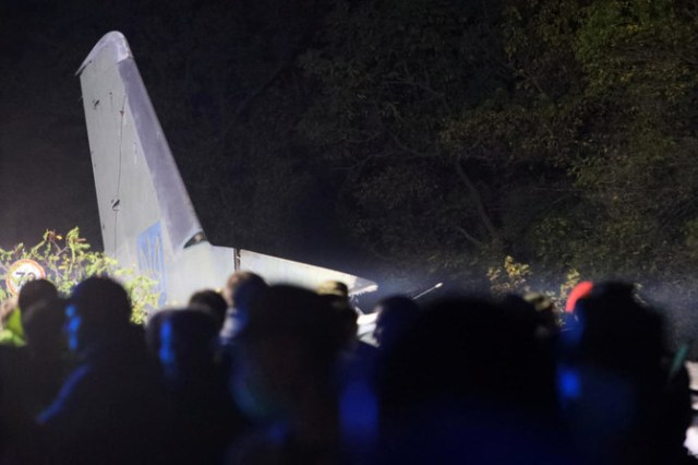 22 killed after military aircraft crashes in Ukraine