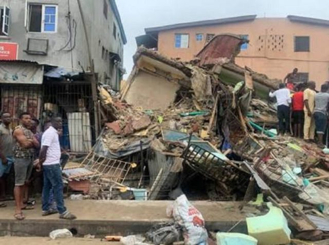 One killed, four injured in Delta building collapse
