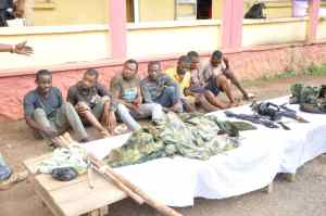 Police arrest 6 suspected armed robbers operating in military camouflage