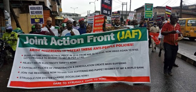 Fuel, Electricity: Police arrest Vanguard photo-journalist, 50 others during protest in Lagos
