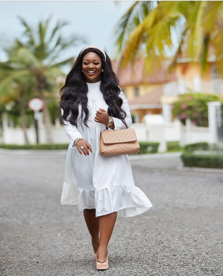 Jackie Appiah, reacts to getting pregnant for Liberian president, George Weah