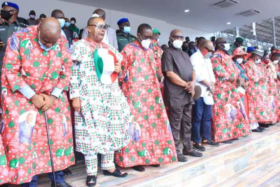 Edo 2020: Wike, Obi, others storm Benin for PDP rally