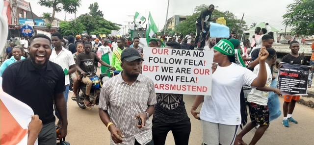 EndSARS protesters shut down Makurdi
