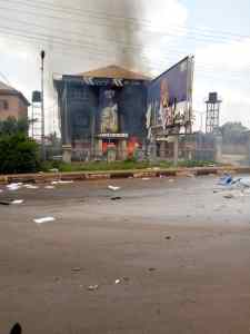 VIDEOs, PHOTOs of hoodlums attack on Akeredolu's office