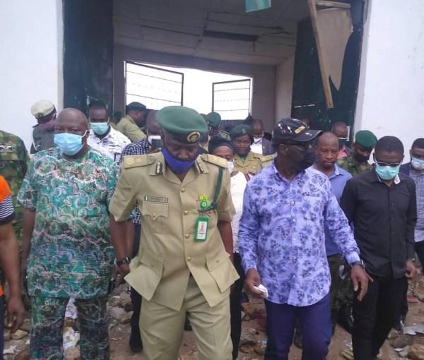 Benin jailbreaks: Obaseki inspects correctional facilities, issues ultimatum to fleeing inmates