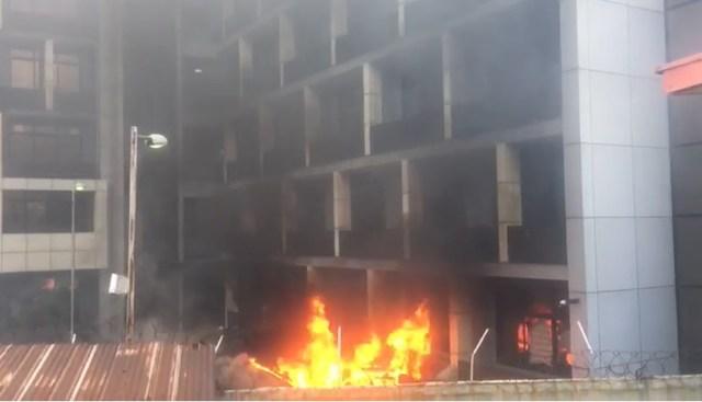 VIDEO: Nigerian Port Authority, Marina on fire
