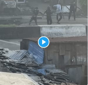 HAPPENING NOW: Uniformed men shoot protesters at Yaba
