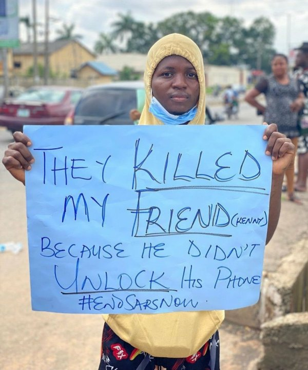 Interesting photos, creativities from #EndSARS protests