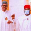 PHOTOS: Buhari receives recently defected Ebonyi governor Dave Umahi