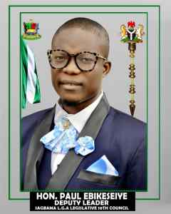 A Councilor representing Ward 13 in Sagbama Local Government Area, Hon Paul Ebikeseiye, Thursday, disclosed of launching a humanitarian service Foundation called 'Hon Paul Ebikeseiye Foundation', whose focus is on senior citizens and indigents.