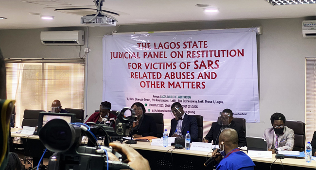 [BREAKING] #EndSARS: Lagos panel views protest video footage captured by LCC's CCTV