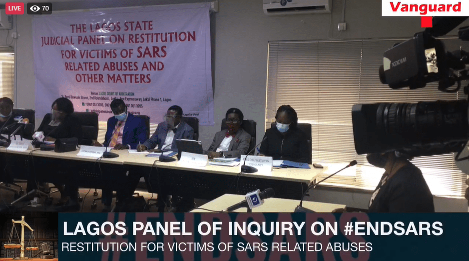HAPPENING NOW: Watch Lagos Panel of Inquiry on #EndSARS live – Vanguard News