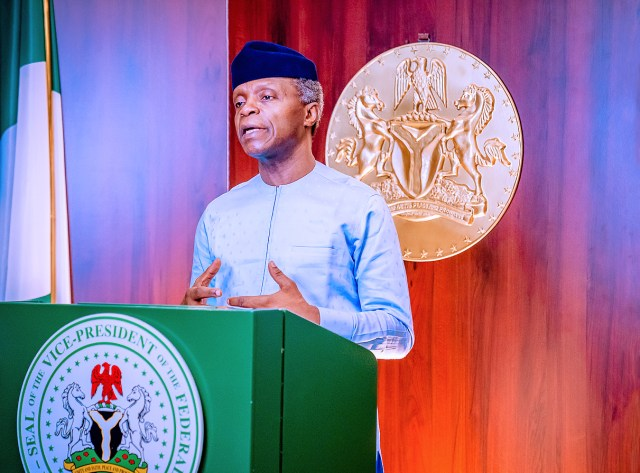 38 LGAs attain free defecation status — Osinbajo