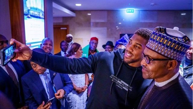 Buhari hails Anthony Joshua's victory over Pulev