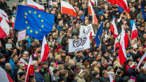 """Thousands marched in anti-government protests in Warsaw and other cities across Poland on Sunday as part of renewed protest at a recent attempt to tighten the country's abortion law, among other issues.  Hundreds of people in the capital, many in face masks, joined a demonstration and chanted anti-government slogans and carried pro-choice banners, as well as Polish, EU and rainbow flags.  Protests have been held regularly on the streets of Polish cities since a top court ruled in October that women are not allowed to have an abortion even if a foetus has severe health defects.  The demonstrators' path was blocked several times by police blockades, but the crowd eventually made it to the northern district of Zoliborz, near the house of Jaroslaw Kaczynski, the leader of the governing right-wing Law and Justice party and Poland's most powerful politician.  Organizers had described the protest as a spontaneous walk to skirt coronavirus restrictions and limits on public gatherings. The protesters marched under the slogan """"We are going for freedom. We are going for everything!""""  As in the case of previous protests, access to Kaczynski's home was blocked by numerous police officers in riot gear and vehicles. The police repeatedly called on the crowd to disperse.  Nearly two months after the decision of the Constitutional Tribunal, the ruling is yet to be published, which is a necessary condition for tighter abortion rules to fully enter into force. As demonstrations continue, they have morphed into a voice of broader protest.  The Sunday protests also included other disenchanted groups, including representatives of businesses unhappy with lockdown measures.  The protests coincided with the 39th anniversary of the introduction of martial law in Poland, which had been an illegal attempt by the Communist regime to quash the rise of Solidarnosc (Solidarity), a grassroots independent trade union and pro-democracy movement.  During the Sunday march in Warsaw, protesters compared"""