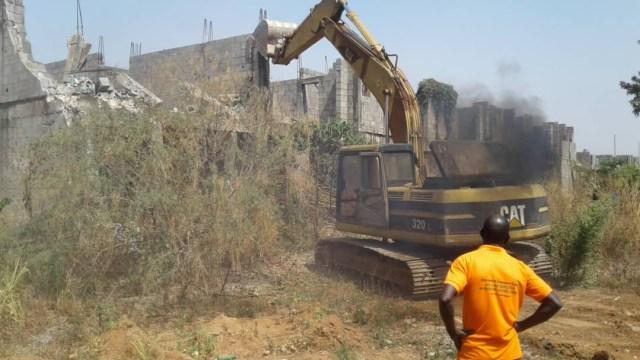 FCTA demolishes filling station inside NASS Complex