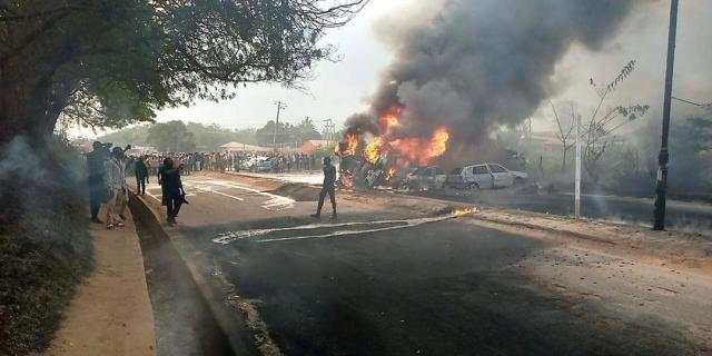Three dead, four injured as fuel tanker explodes in Abeokuta