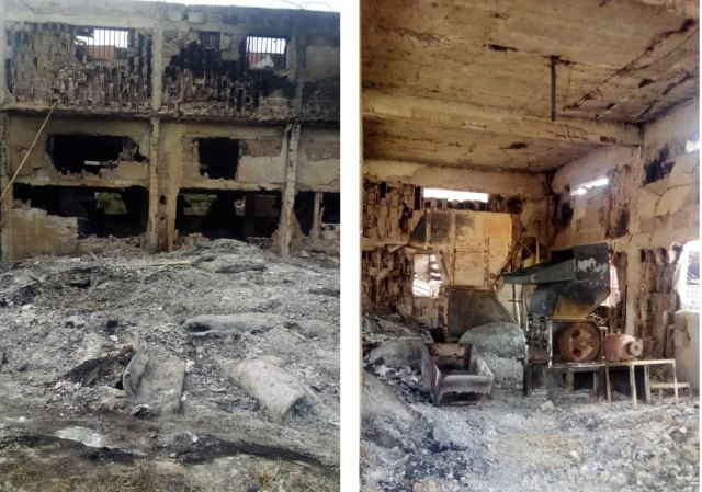 Midnight fire destroys Nnewi multi-million motorcycle spare parts factory