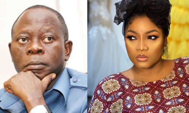 A self-acclaimed blog, 'Gistloverblog' has dragged actress, Omotola Jolade Ekehinde, Posting a picture of her and Oshiomhole.