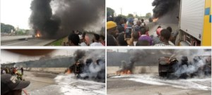 BREAKING: Fire guts tanker in Lagos (PHOTOS)