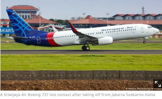 Boeing in trouble as Sriwijaya plane crashes after takeoff