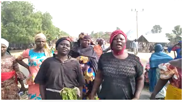 VIDEO: Women protest as roads are barricaded in Biliri LG, Gombe over imposition of leader