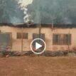 VIDEO: Suspected herdsmen set school ablaze in Kogi