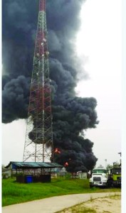 OVERFLOWING GAS FLARE IN OGBOINBIRI: Bayelsa villagers trigger alarm over quaking, cracking homes
