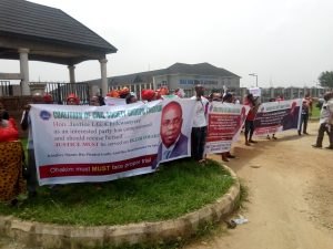 Again protest hits Imo high court over Ex-gov, Amuchienwa case
