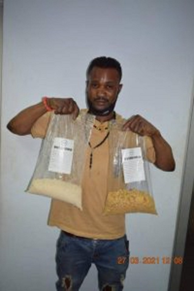 The drug trafficker arrested at Abuja airport
