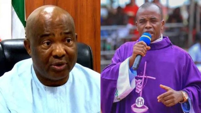 Nigerians react as Mbaka says Uzodinma yet to show appreciation after election victory