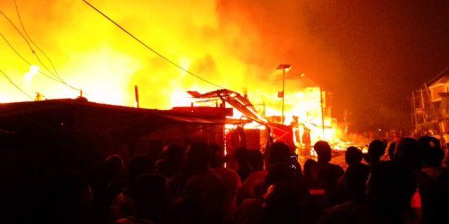 Fire guts OkoBaba Sawmill Market