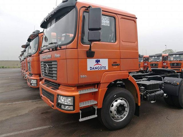 Dangote boosts fleet with 400 Shacman trucks