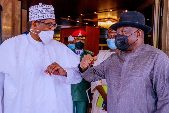 Mali crisis: Buhari, Jonathan meet in Aso Rock