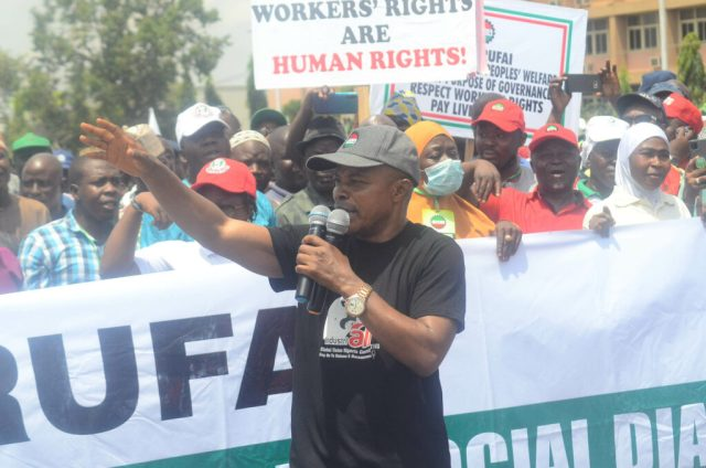 Pic17 Armed thugs disrupt NLC protest in Kaduna