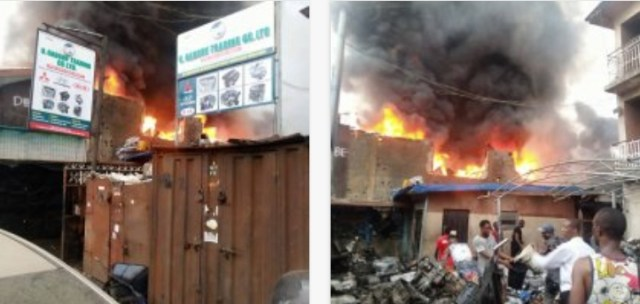 Fire reins as Ladipo Market, building in Dopemu go aflame