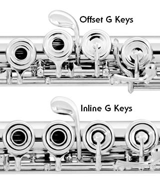 inline offset g key flute vanguard orchestral