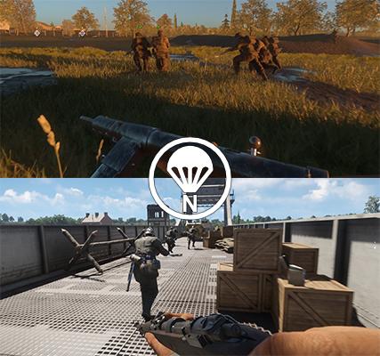 Defender's HUD, showing lives and reinforcements for both teams
