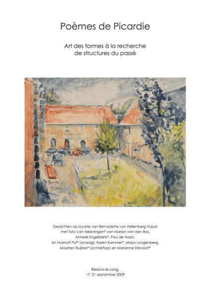 Faits divers | Omslag van de bundel Poèmes de Picardie (2009) die ontstond tijdens een excursie met Kunst der Vormen. Aquarel: An Hulshoff Pol.