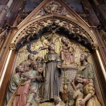 Het retabel van het altaar van Nicolaas van Tolentino in de Paterskerk te Eindhoven.