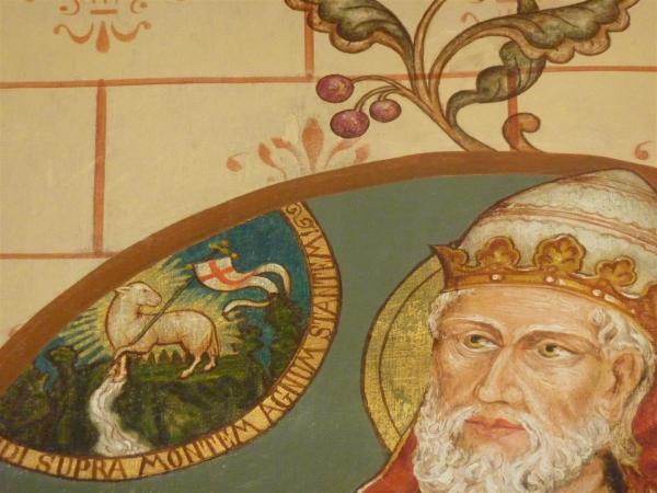 Clemens in de Legenda aurea: het wonder van het lam Gods. Dom Romanus Jacobs, 1901, Merkelbeek.