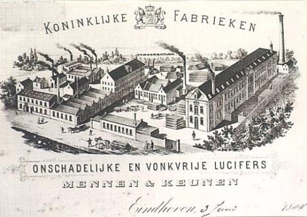 Briefhoofd van de firma Mennen en Keunen uit 1884.