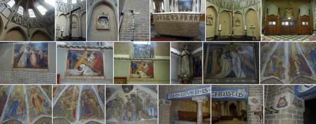 Mozaïek Laurentiuskerk van het Ginneken van Joseph Cuypers en Jan Stuyt (1901-1902). Foto's Marjanne Statema 2016.