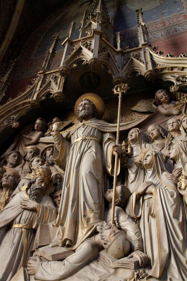 Detail van het Augustinusaltaar in de Paterskerk