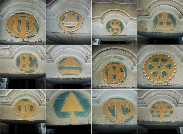 De monogrammen van het corps van de magister operum van de nieuwe #Bavo te Haarlem