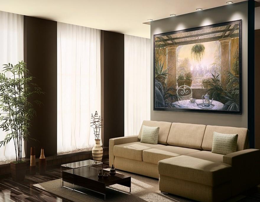 Modern interieurschilderwerk met maatkunstwerken