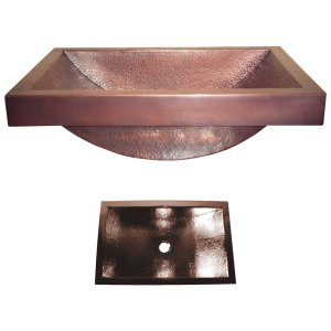 Copper Sink with 4-inch Apron Option