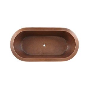 Hammered Double Wall Copper Bathtub